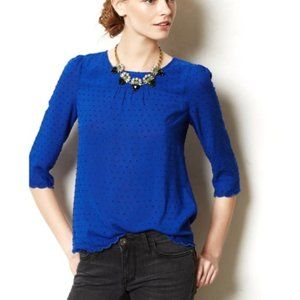 Anthropologie Maeve Royal Blue Blouse